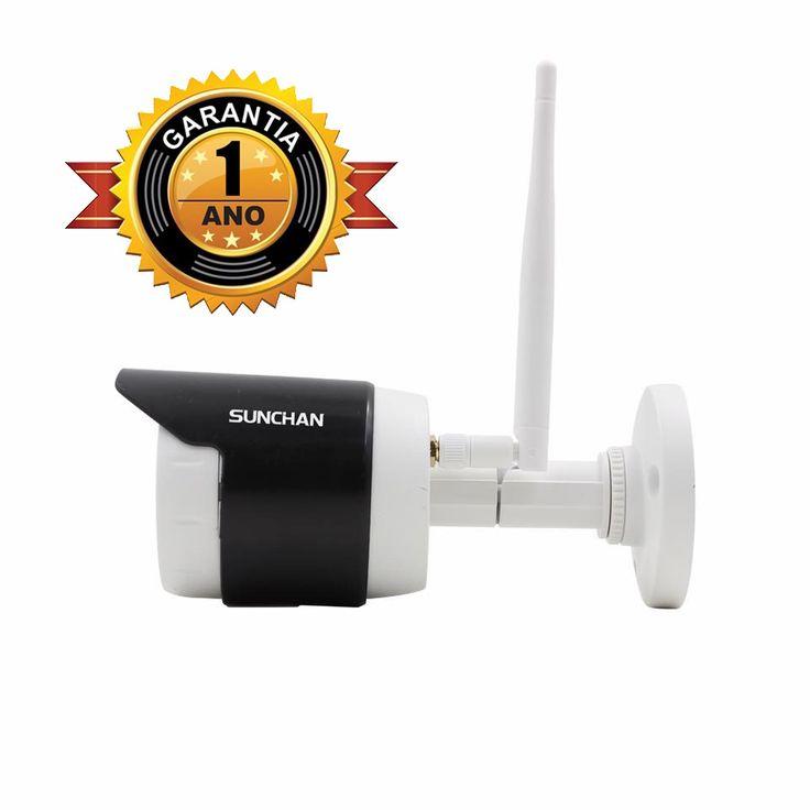 Garantia Total de 12 meses, Câmera Infra Vermelho Ip Wifi, Resolução: 1.3 Megas 1280x960p, Lente 1/3, onvif 2.2, App Celular, Certificado IP66 à prova d'água IR