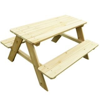 Shop for Kids Wooden Picnic Table. Get free delivery at Overstock.com - Your Online Garden