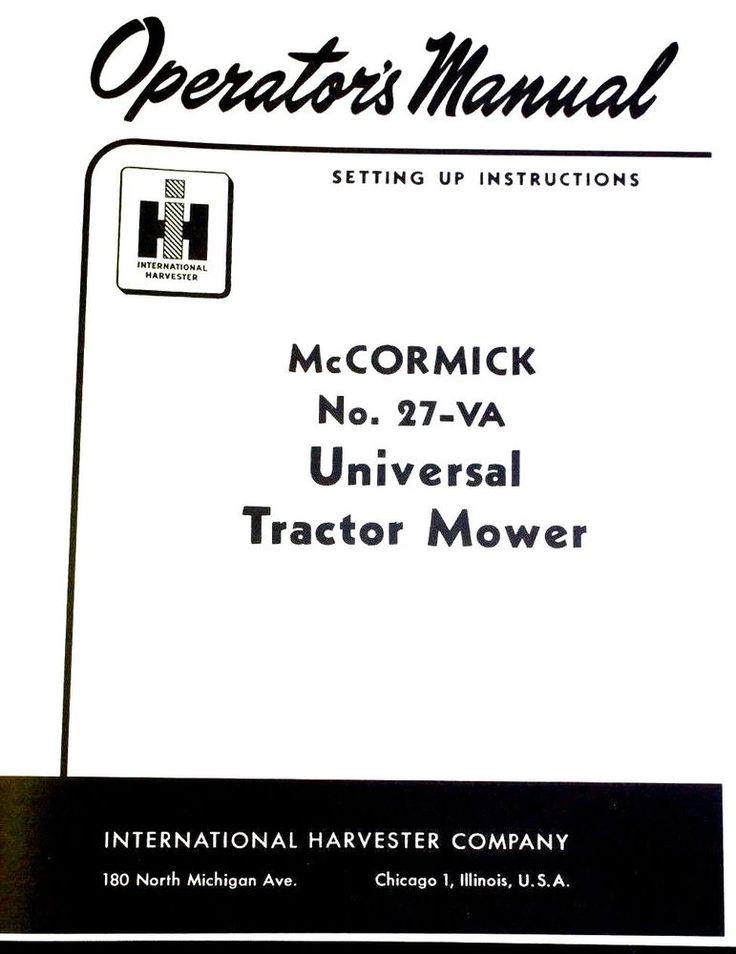IH McCormick Farmall #27-VA Universal Mount Rear Sickle