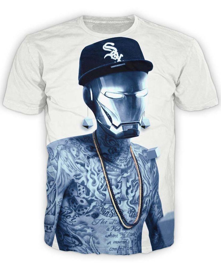 Iron Khalifa T-Shirt rapper Wiz Khalifa with Marvel Super Hero Iron Man 3d print t shirt Women men summer style sexy tee tops