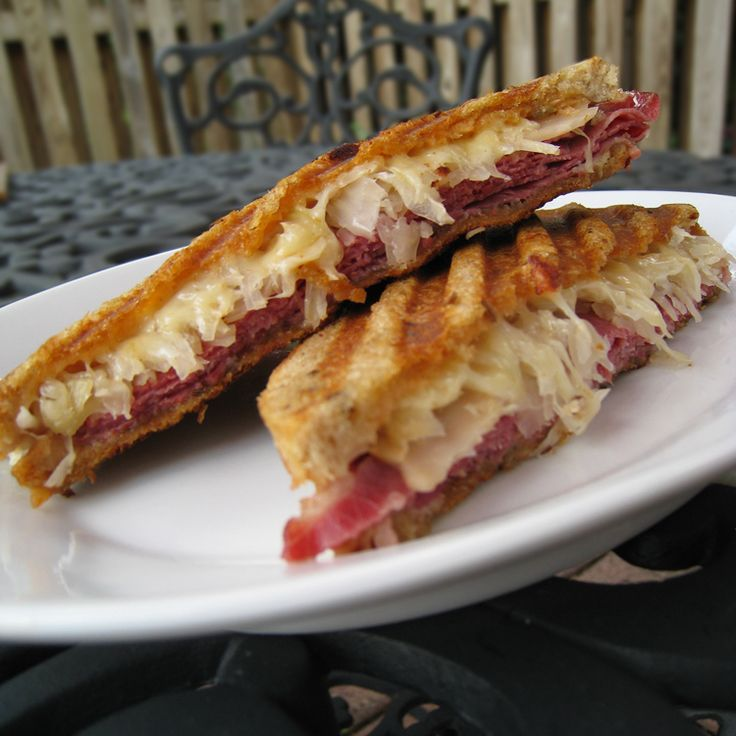 Reuben Panini - I'm not usually a sauerkraut fan, but lately I've had a craving for anything sour, especially on a sandwich. This just looks good to me.