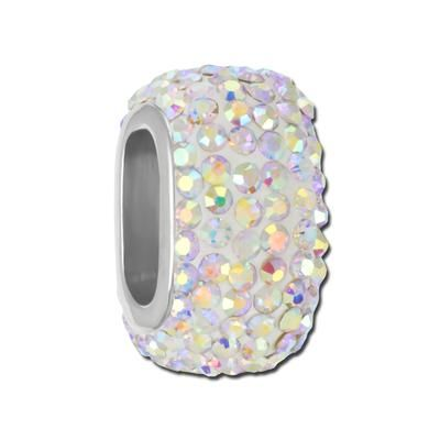 Goodybeads.com Exclusive! 19mm Crystal AB Rhinestone Bead for Licorice Leather $9.99