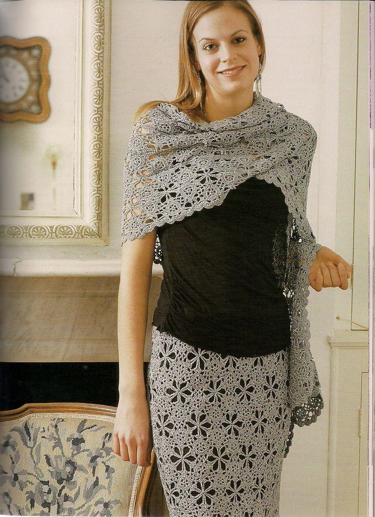motif wrap & skirt (from Party Crochet)