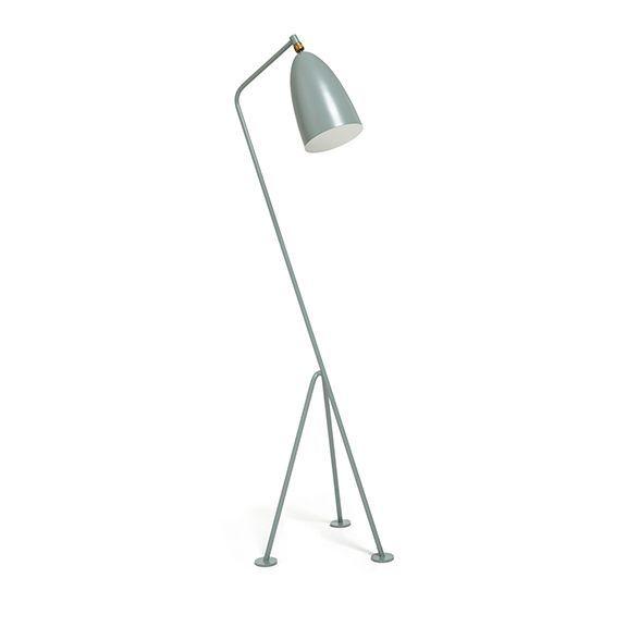 Gubi Grashoppa Floor Lamp Blue Grey Floor Lamp Grey Floor