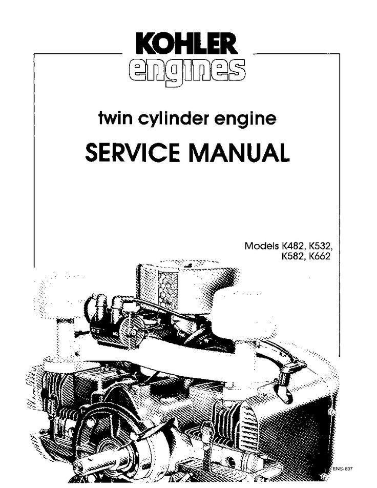 Kohler K482 K532 K582 K662 Engines Workshop Repair