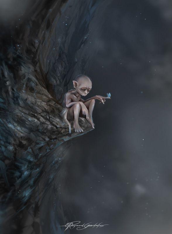Gollum or Smeagol by Shockbolt.deviantart.com.   This is so SAD!!!!