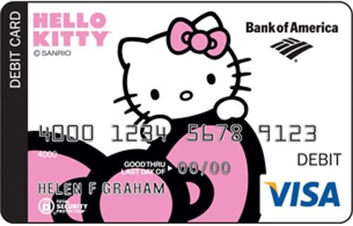 Bank of America x Hello Kitty Debit Card #HelloKitty