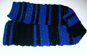 "Crochet Morse Code Scarf - also has a link to an online Morse Code generator/translator. What a neat way to say ""I love you"" or even personalize a scarf with your name.  free pattern from Crochet Spot"
