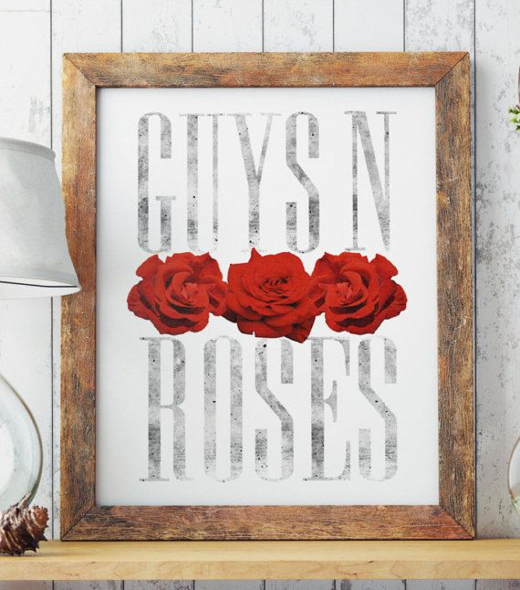 FREE SHIPPING ALL OVER THE WORLD!  Digital art. GUYS N ROSES / Perfect for your living walls Great gift idea for your friends.  Big resolution of the picture, can be printed on larger formats.  Check out framed canvas as well: https://www.etsy.com/listing/512114375/wall-art-framed-canvas-guys-n-roses?ref=shop_home_active_9   ZuskaArt : artwork | watercolor painting | art prints | canvas art | framed art | canvas painting | watercolour | art prints | art post...
