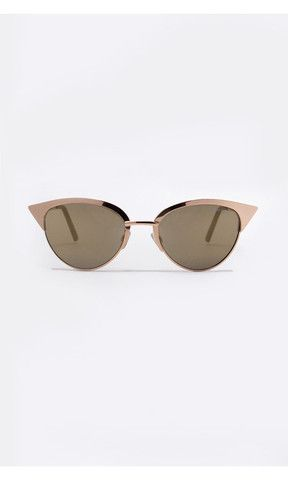 Tilly Gold Sunglasses from Quay x Shay Mitchell