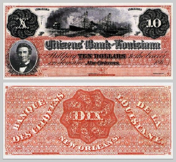 """1) The term """"Dixieland"""" was developed from the name of the currency, the """"dix,"""" that was Louisiana's currency when states printed their own."""