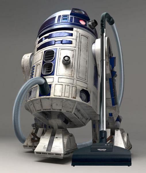 C'est l'aspirateur que vous recherchezAspirateur en forme de R2D2Pour une maison aussi propre que le vaisseau de LukeNe se déplace pas tout seul