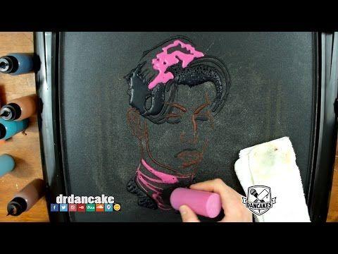 Prince Pancake Art - YouTube  Mind blown!