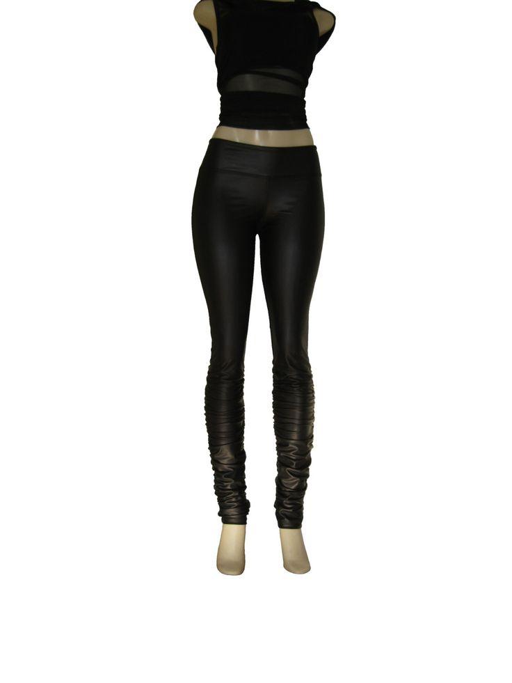"""Leggings """"Ruffle"""", pantalon moulant aspect faux cuir, skinny plissé, legging ruché. de la boutique atelierPATH sur Etsy"""
