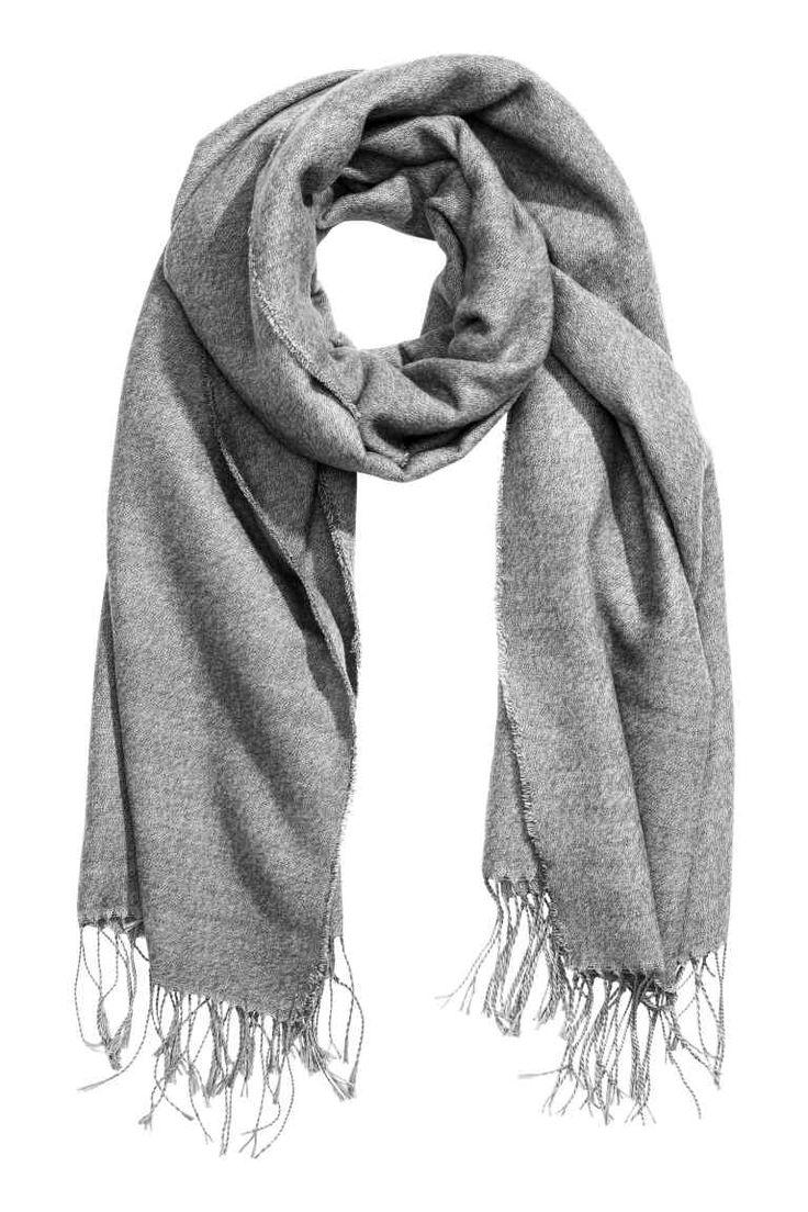 Vævet tørklæde - Grå - DAME | H&M DK 1