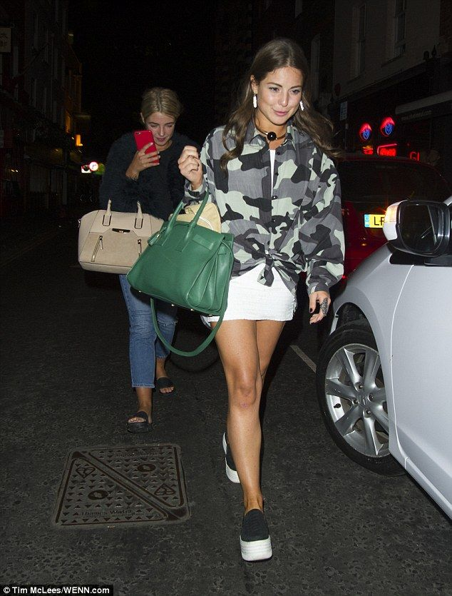 Fashionista: Louise Thompson led the fashion pack during a night out with her Made in Chel...