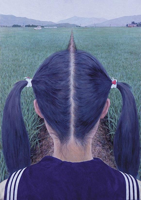 By Makoto Aida: Photos, Optical Illusions, Art, Funny, Makoto Aida, Road, Hair, Photography