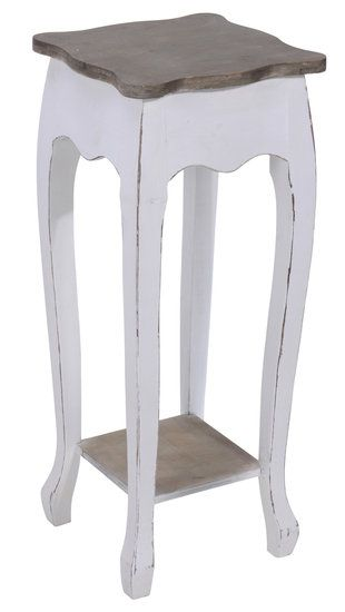 Telefoontafel/ plantenetagere White wash