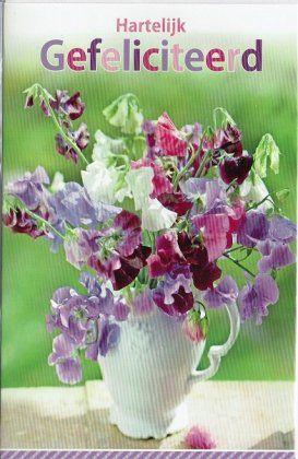 Hartelijk gefeliciteerd - bloemenkaart voor vrouwen