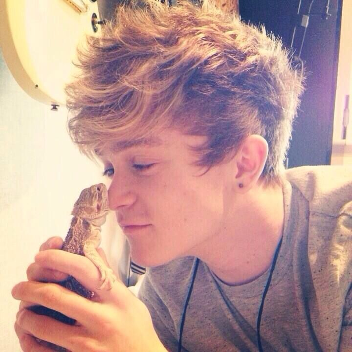 Connor Ball and Rex: awwww
