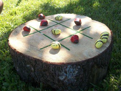 kids game backyard tictacktoe diy, diy, outdoor living, woodworking projects