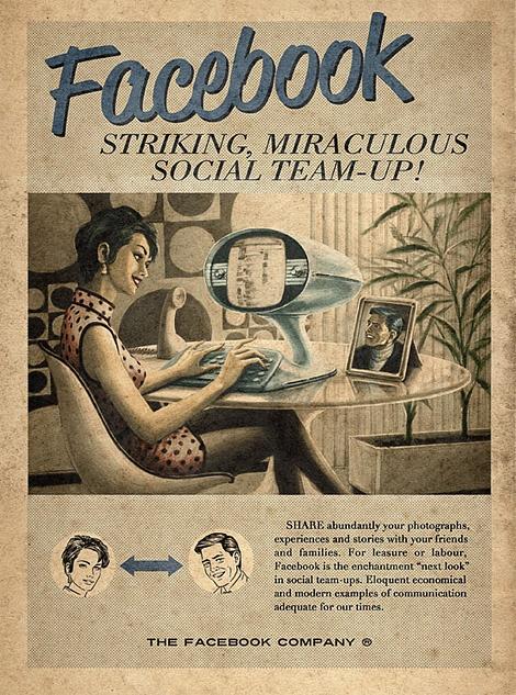 Vintage Facebook poster