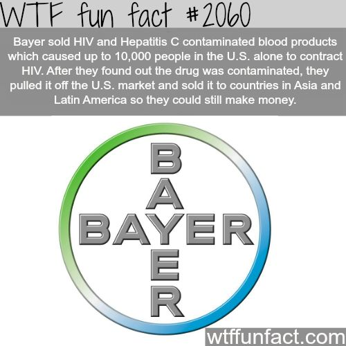 Sick and tired of Bayer and their dodgy pharmaceuticals. Can't believe they can still sell products in Australia!