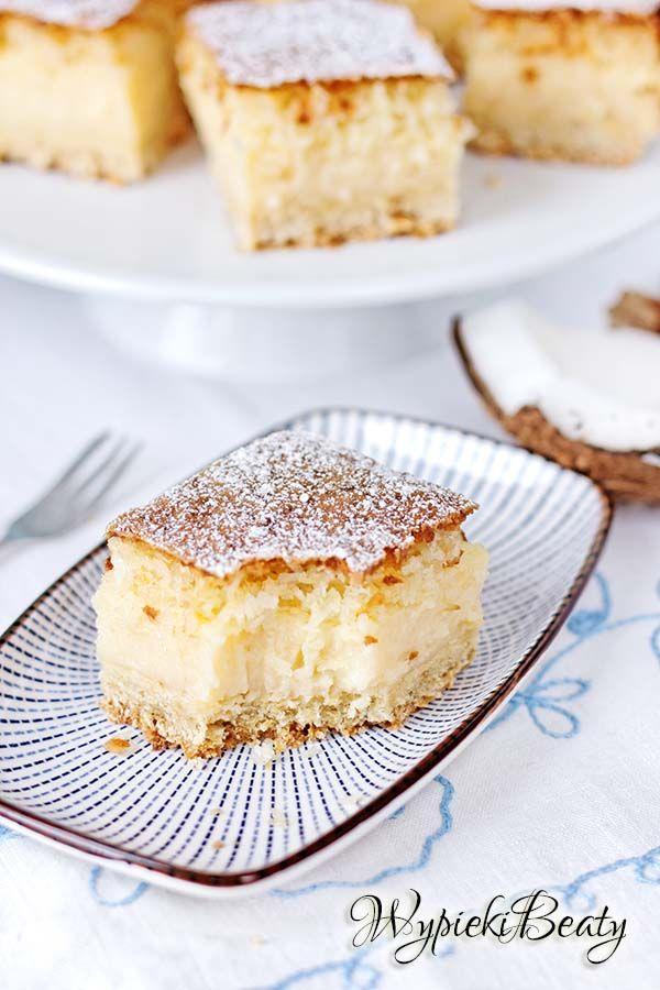 ciasto kokosowe z budyniem - coconut cake