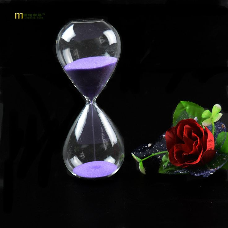 1PC 10 colors 60 minutes Awaglass Hand-blown Timer clock Magnetic Hourglass ampulheta crafts sand clock hourglass timer J1189-7