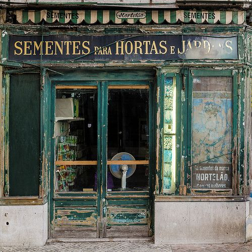 shabby storefront in lisbon, portugal | travel photography #shops