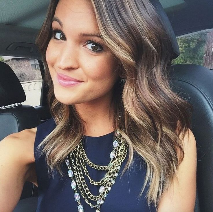 Fabulous 1000 Ideas About Brunette Blonde Highlights On Pinterest Hair Hairstyle Inspiration Daily Dogsangcom