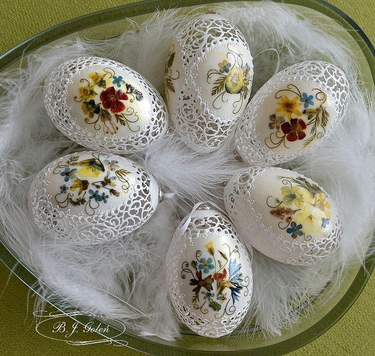 Pisanki suszone kwiaty- Egg art- Bogusława Justyna Goleń