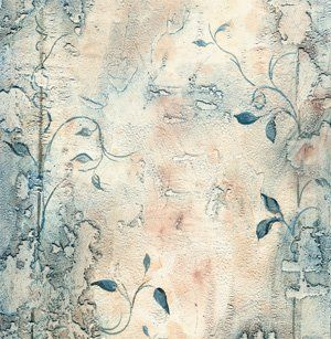 Rotto plaster with color wahing, dry brushing and hand painting all using Blue Pearl Faux Colorants which are excellent for fine art work.