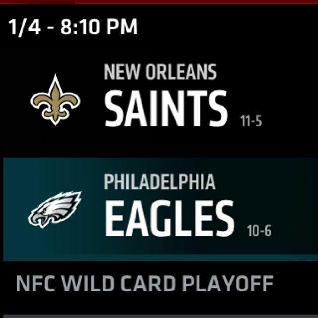 Saints vs. Eagles Wildcard Matchup