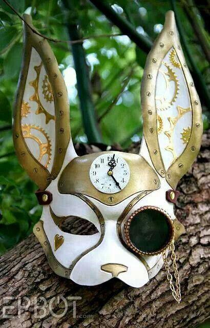 Steampunk bunny mask