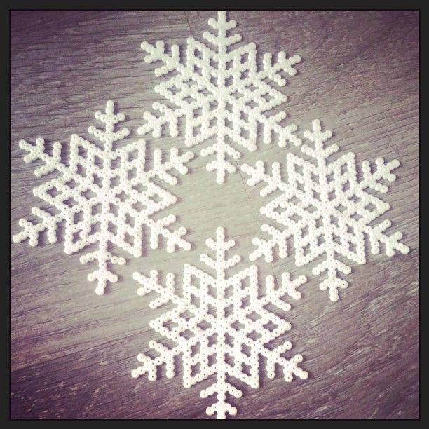 Snowflakes perler beads by ingridsstrikk