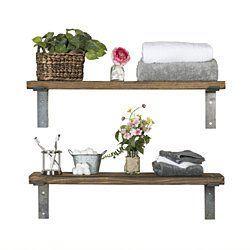 Industrial Bracket Shelves, Set of 2 (Free Shipping!)