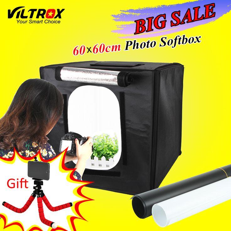 Viltrox 60*60cm LED Photo Studio Softbox Shooting Light Tent Soft ...