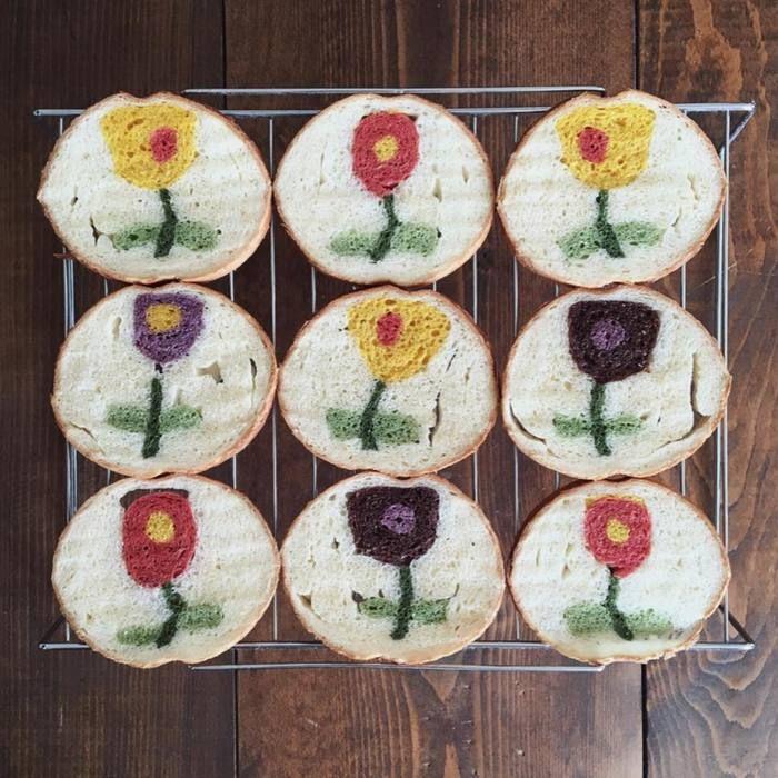 「金太郎飴?いえいえ、パンです。」インスタで人気の『#イラストパン』のクオリティがすごい。の画像3