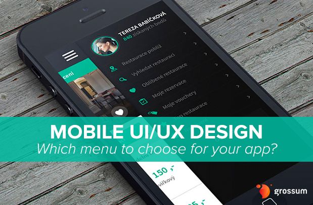 Mobile UI/UX Design Patterns: What Type of Menu to Choose for Your App?
