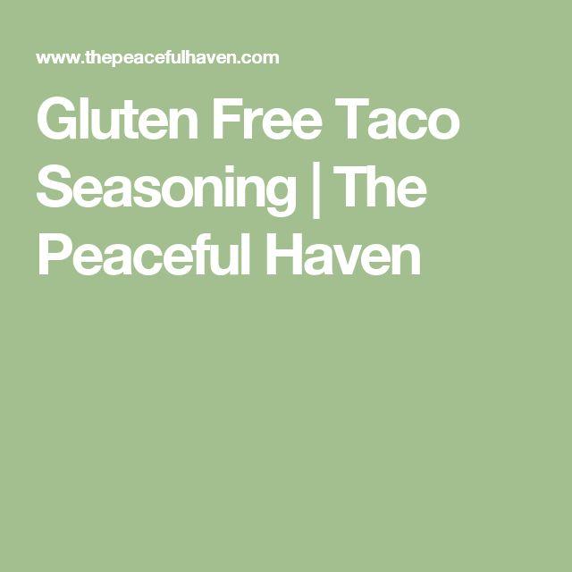 Gluten Free Taco Seasoning | The Peaceful Haven