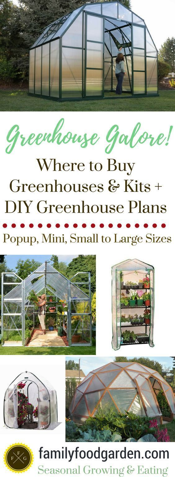 Greenhouse Kits, Mini/Small Greenhouses for Sale & DIY Greenhouses #greenhousediy