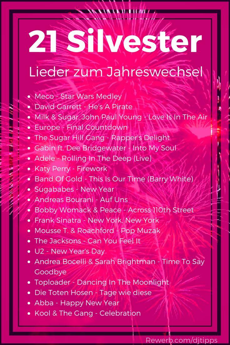 21 #Silvester-Songs zum Jahreswechsel, #Lieder gegen den Mitternachts-Durchhänger Dafür habe ich #Musik zusammengestellt, die thematisch passt und die festliche #Stimmung unterstützt. #Silvester #HappyNewYear #Mitternacht – DJ Rewerb