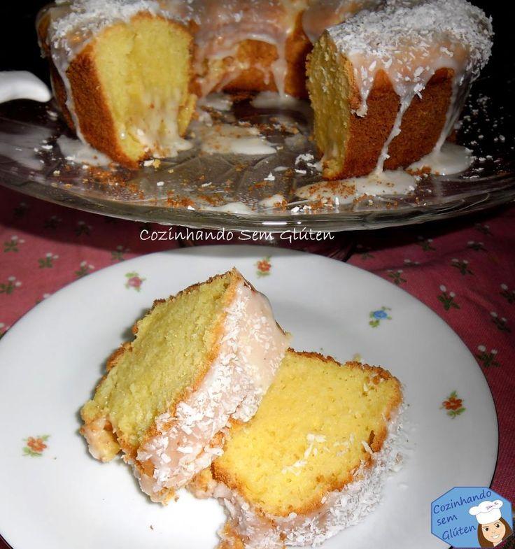 Cozinhando sem Glúten: Bolo de laranja e coco livre de glúten e lactose