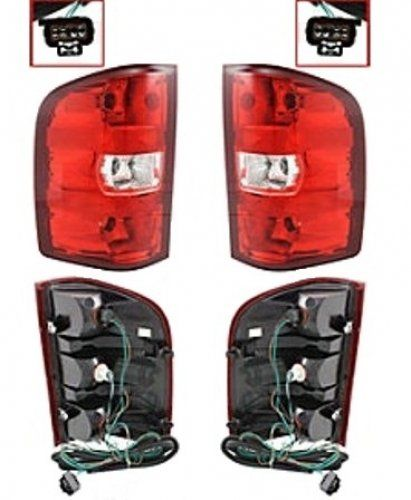 Discount Starter and Alternator GM2801207 GM2800207 Chevrolet Silverado Replacement Taillight Pair Plastic Lens With Bulbs * Want additional info? Click on the image.