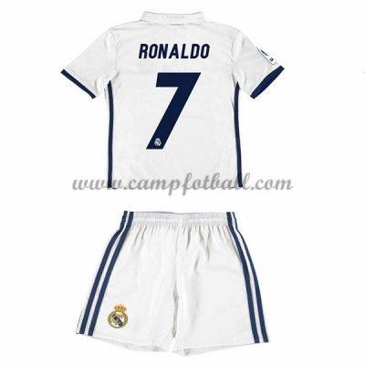 Fotballdrakter Barn Real Madrid 2016-17 Ronaldo 7 Hjemme Draktsett