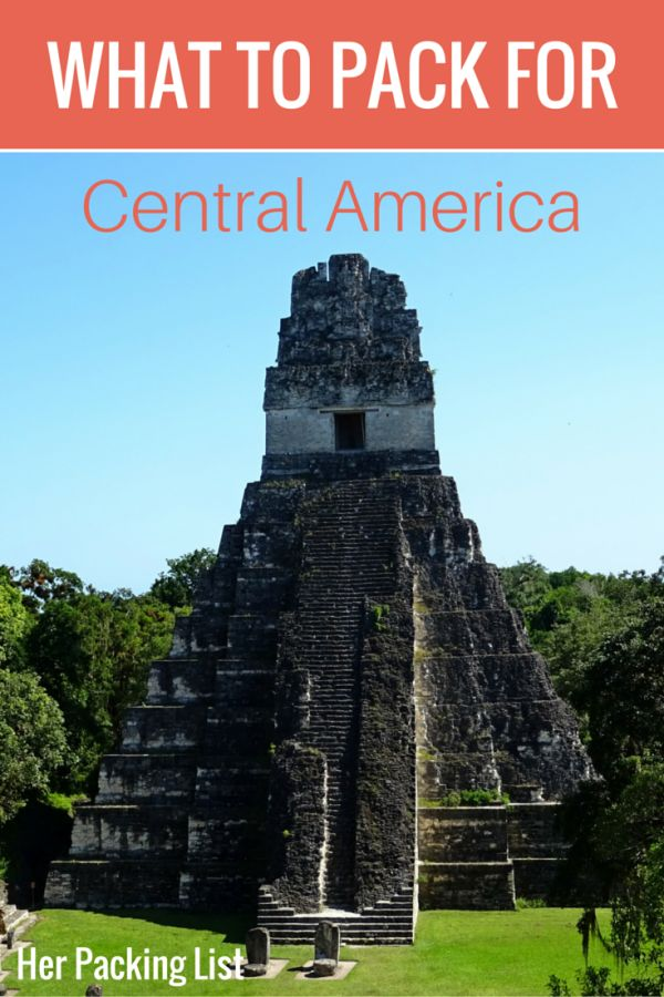 Ultimate Female Packing List for Central America