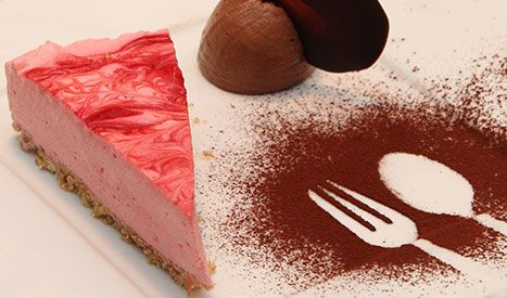 Madspot - Cheesecake med hindbærpuré