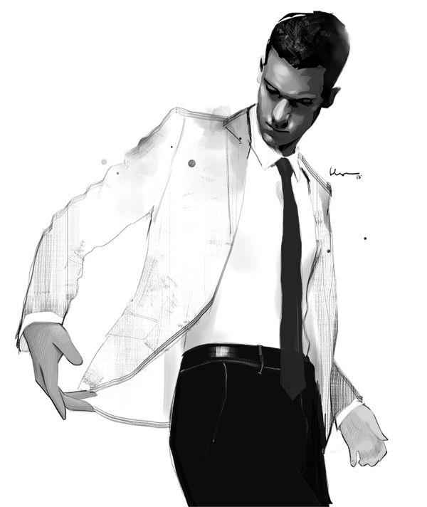 Fashion illustration by Floyd Grey Illustration.Files: Black Never Goes Wrong