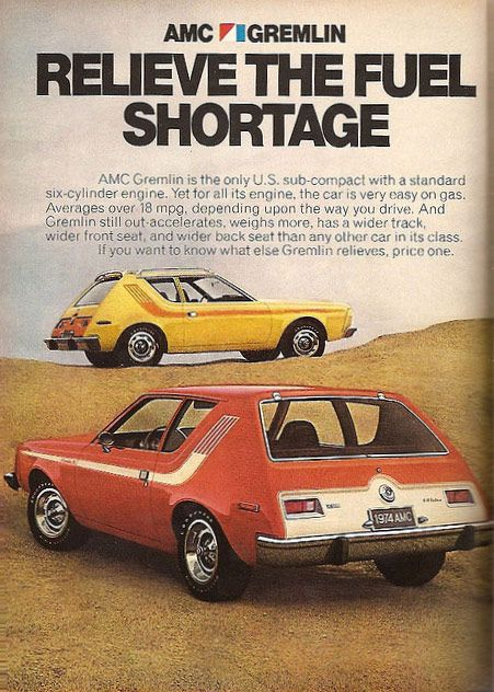 AMC Gremlin Car, my grandma had one in blue. Got into a real bad car accident in this car! Remember no one wore seat belts!